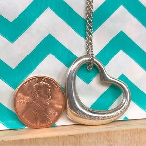 Tiffany & Co. Jewelry - Tiffany silver Large open heart pendant necklace